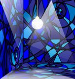 blue abstract room Royalty Free Stock Photos