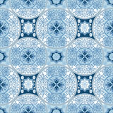 Blue abstract seamless lace pattern Stock Images