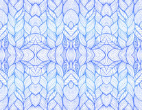 Blue abstract seamless pattern Stock Image