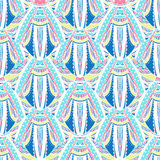 Blue abstract seamless pattern Royalty Free Stock Images