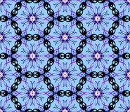 Blue Abstract Seamless Pattern Illustration Stock Photography