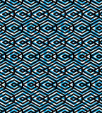 Blue abstract seamless pattern with interweave lines. Vector orn Royalty Free Stock Photography
