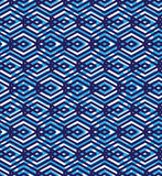 Blue abstract seamless pattern with interweave lines. Vector orn Stock Images