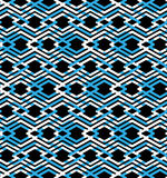 Blue abstract seamless pattern with interweave lines. Vector orn Royalty Free Stock Photos