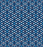 Blue abstract seamless pattern with interweave lines. Vector ove Stock Photography
