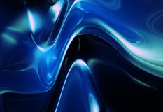 Blue abstract shape metalic shiny background Stock Photo