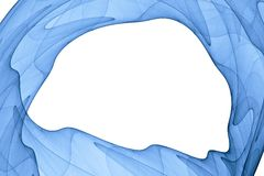 Blue abstract shaped frame Stock Photography