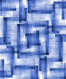 Blue Abstract Shapes. A blue abstract squared design royalty free illustration