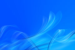 Blue abstract shapes Stock Images