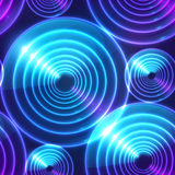 Blue abstract shining circles vector background Stock Image