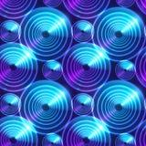 Blue abstract shining circles vector background Stock Photos