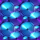 Blue abstract shining circles vector background Stock Photo