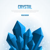 Blue abstract shining ice crystals background. Stock Images