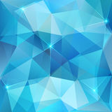 Blue abstract shining ice vector background Royalty Free Stock Photos