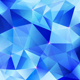 Blue abstract shining ice vector background Stock Photos