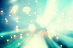 Blue abstract shiny light futuristic pathway Royalty Free Stock Photos