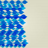 Blue Abstract Shiny Wavy Lines Background Royalty Free Stock Images