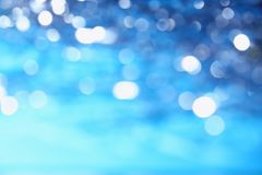 Blue abstract sky background with glitter and bokeh pattern Royalty Free Stock Photos