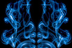 Blue Abstract Smoke Royalty Free Stock Image