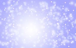 Blue abstract snow falling winter Christmas holiday background stock photo