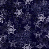 Blue abstract  snow flakes background Royalty Free Stock Images