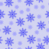 Blue abstract snowflakes Royalty Free Stock Photography