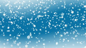 Blue abstract snowy background