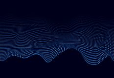 Blue abstract soundwave for web banner. 3D glowing musical wave of particles. Vector illustration eps10. Blue abstract soundwave for web banner. 3D glowing vector illustration
