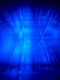 Blue abstract space background. Blue abstract 3D space  background - computer generated Royalty Free Stock Image