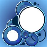 Blue abstract speech bubble Royalty Free Stock Images