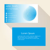 Blue abstract sphere from dots business card design eps10 Stock Photography