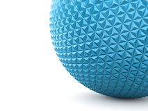 Blue abstract sphere with polygonal Stock Photos