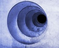 Blue abstract spiral. An three dimensional abstract spiral with blueish color and slight grunge appearance Royalty Free Stock Photo