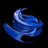 Blue abstract spiral. Glossy looking abstract spiral object in blue Royalty Free Stock Images