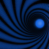 Blue abstract spiral Stock Images