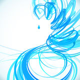 Blue abstract spiral vector background Royalty Free Stock Photography