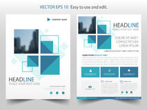 Blue abstract square annual report Brochure design template vector.   Stock Images