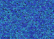 Blue abstract squares background vector illustration