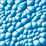 Blue abstract stained glass mosaic background Royalty Free Stock Images