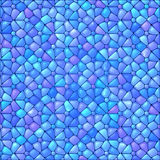 Blue abstract stained glass mosaic background Stock Images
