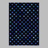 Abstract star pattern background brochure template - vector design. Blue abstract star pattern background brochure template - vector design royalty free illustration