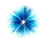 Blue abstract star shape Royalty Free Stock Images