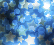 Blue Abstract Stars Background Royalty Free Stock Images