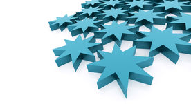 Blue abstract stars background. Rendered Royalty Free Stock Photos