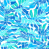 Blue abstract surf pattern in a seamless pattern Stock Photography