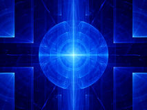Blue abstract target. Computer generated fractal background Royalty Free Stock Photo