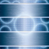 Blue abstract tech background Stock Image