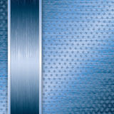 Blue abstract tech background Stock Photography