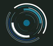 Blue abstract tech circles background vector illustration