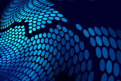 Blue abstract techno dots background Royalty Free Stock Photos